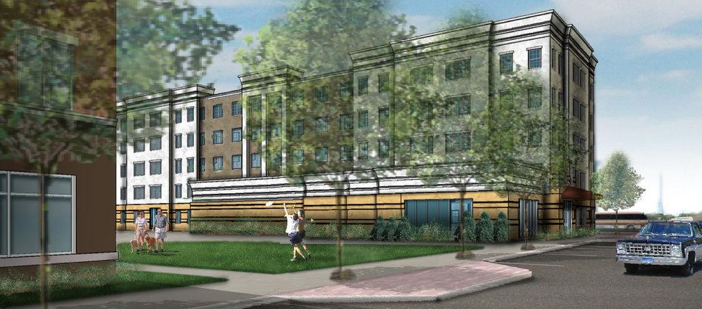 Student Housing Streetscene