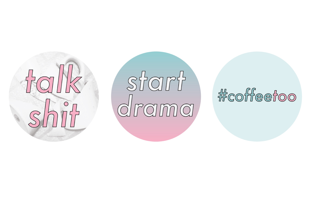 These are the pins you'll get when you donate $10 or more to the  #coffeetoo GoFundMe.  All three!