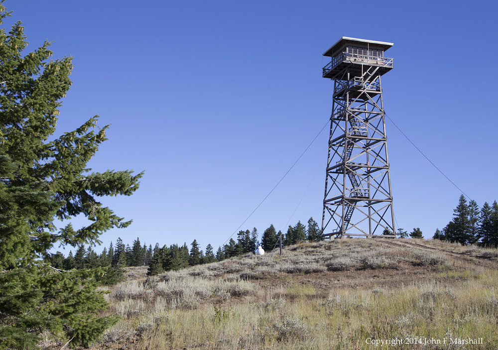 High Ridge Lookout Tower on the Umatilla National Forest, built in 1959 and still staffed at times.