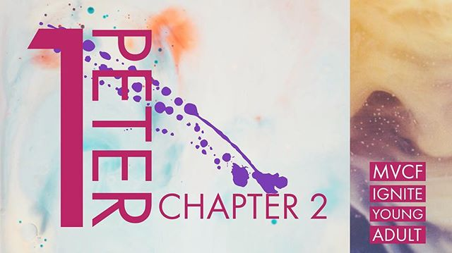 FIRST PETER CHAPTER TWO... TONIGHT!!!!! - Come hang with us at MVCF IGNITE: YA Have a cup of coffee or tea, some desserts, enjoy good conversation, games and bible tonight 7pm @ The Study. See you all here tonight.  Any questions, give Kristian a call at 619-755-7141