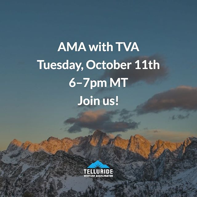 Add it to your calendar! We're hosting an AMA with our founder, Jesse Johnson, and our managing director, Marc Nager, on Tuesday Oct. 11th from 6-7PM MT. Tune in via Crowdcast. Press the link in our bio for more info 👉