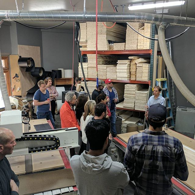 Well, that's a wrap on our mentor week! Thank you to Pete Wagner of @wagnerskis for hosting happy hour and giving us a factory tour last night. We loved witnessing the magic happen!