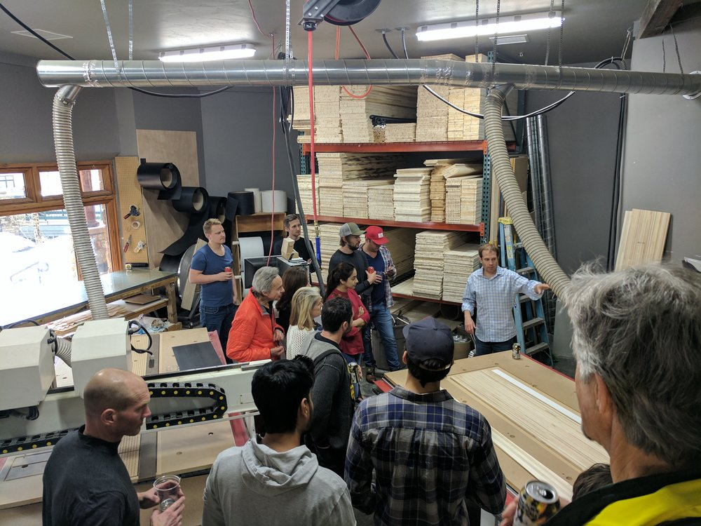 Mentor Happy Hour and Wagner Ski factory tour! Thank you Pete Wagner.
