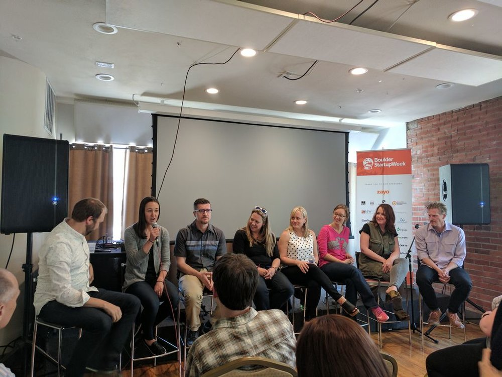 """TVA Program Manager,  Ashley Nager  on panel discussing """"How Does My Startup Get into an Accelerator."""""""