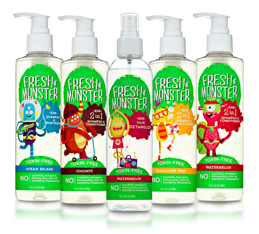 Fresh Monster - Meet Fresh Monster, a fresh new take on getting kids clean. The exuberant lineup of affordable, toxin-free haircare is designed just for kids and is free from sulfates, parabens, phthalates, dyes, and synthetic fragrances. Safe products at a price everyone can afford? What a fresh idea. Our lineup includes 2-in-1 Shampoo & Conditioner, Hair Detangler, and Bodywash in a variety of delicious, natural scents!
