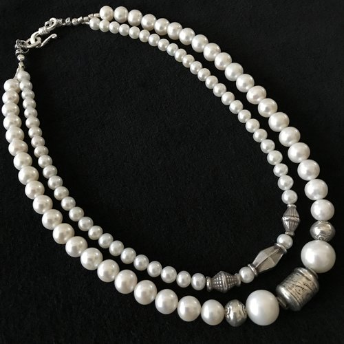south wnme chunky sea baroque with freeform pearls pearl necklace