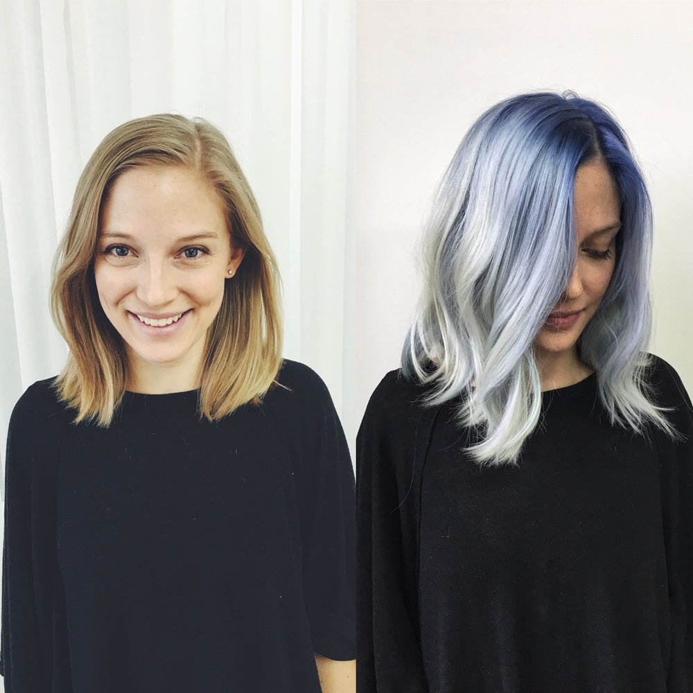 """One of my best """"not yet's"""" thus far.. blue hair happened soon after I left my corporate consulting gig in 2016."""