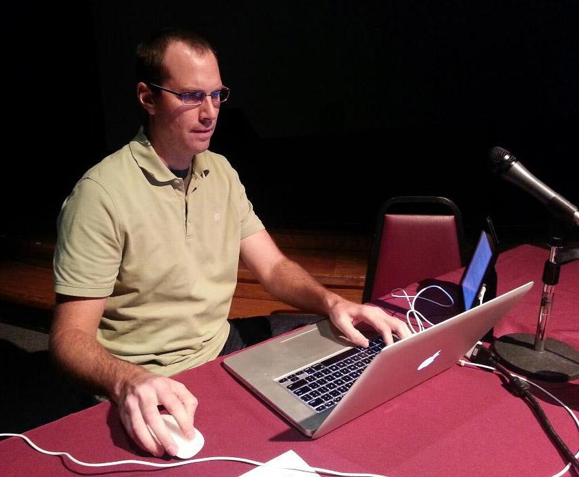 Brian at work.
