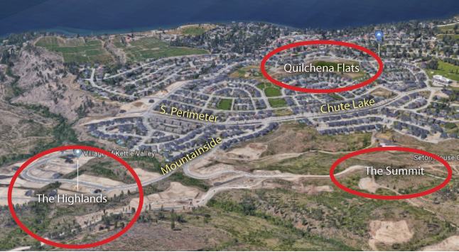 The Quilchena Flats phase currently houses the Kettle Valley Sports Field which will remain leased to the City of Kelowna until the fall of 2019 as a soccer pitch.