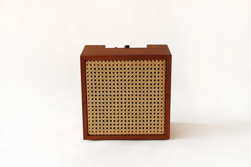 Emma Senft, custom amp, solid wood, design, Montreal, Quebec, custom music gear, fine furniture