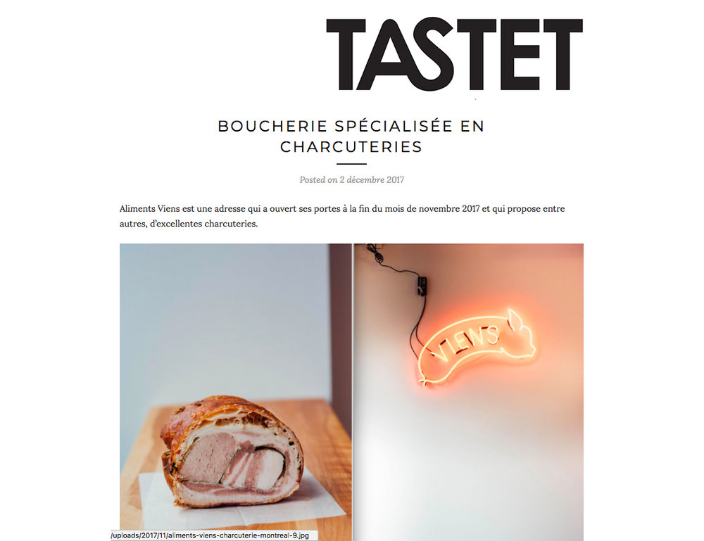 TASTET re ALIMENTS VIENS, DEC 2017