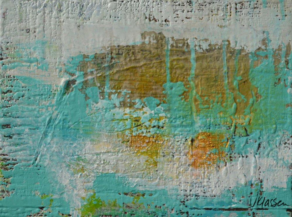 Between The Boundaries II  Acrylic on cradle board  9x12  $105
