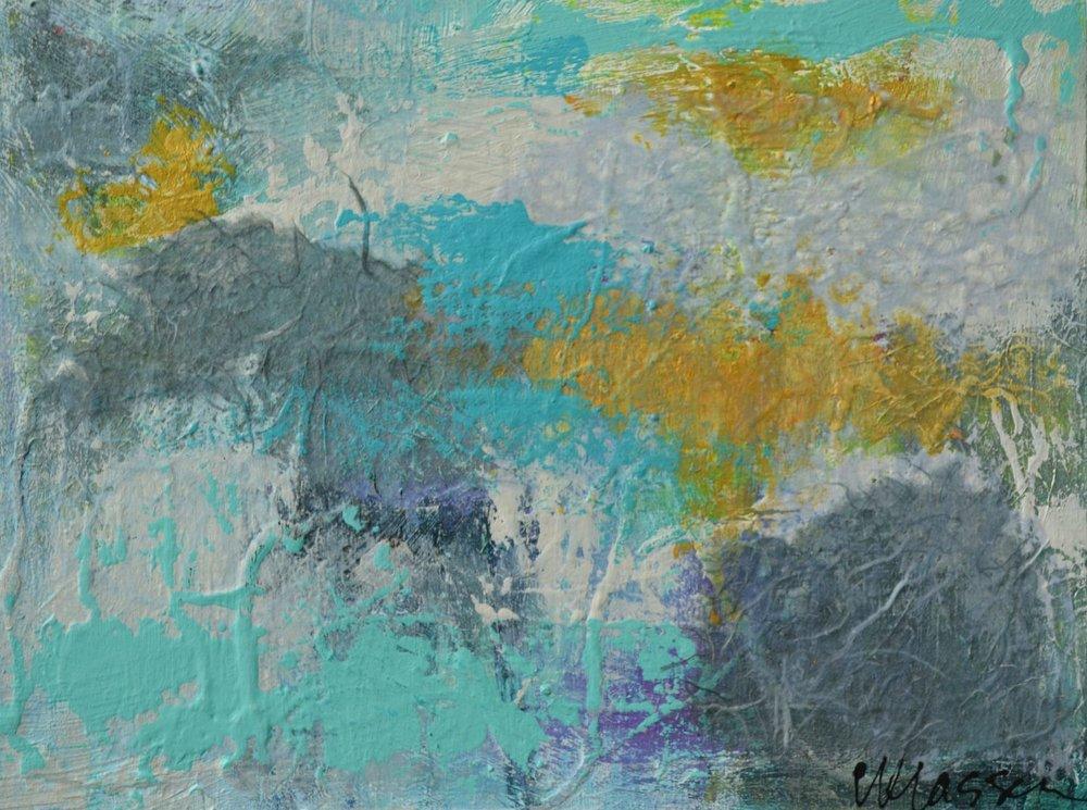 Between The Boundaries III  Acrylic on cradle board  9x12  $105