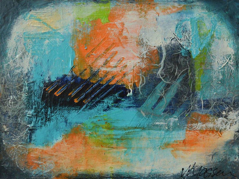 A Semblance of Object III  Acrylic on cradle board  9x12  $105