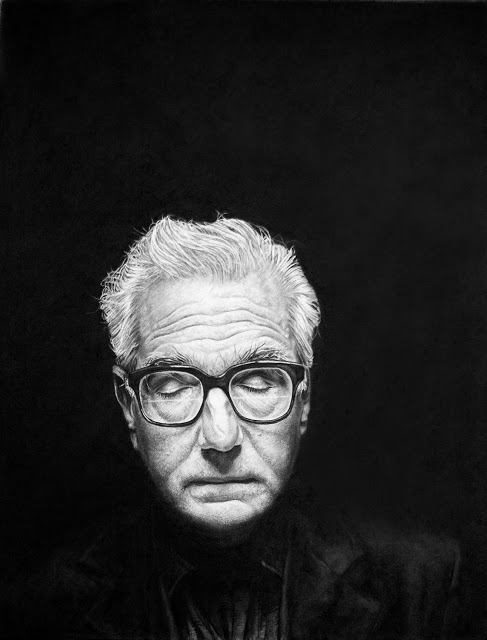 Charcoal & Graphite on paper,  19x24in  Mr. Scorsese himself purchased the drawing.