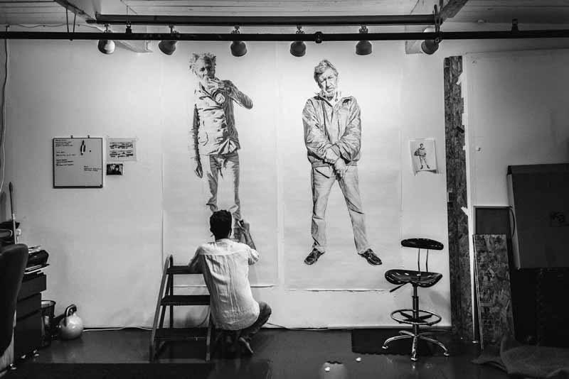 Putting last touches on Eugene and Billy.Image courtesy of Shaun Roberts.