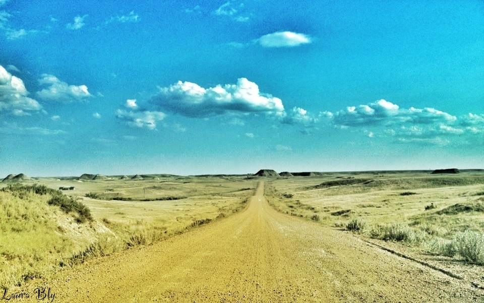 On the road, western North Dakota