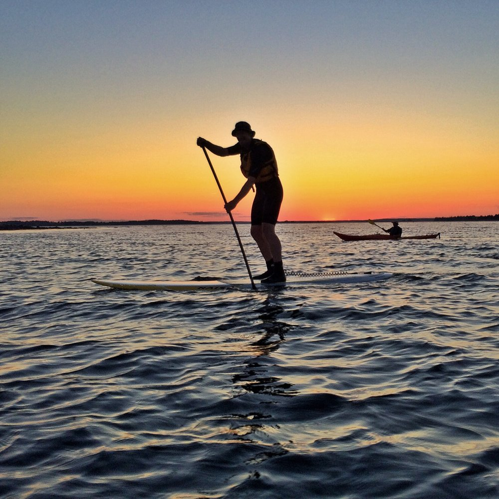 sunset kayak/SUP tour near our Airbnb in Tenants Harbor, Maine