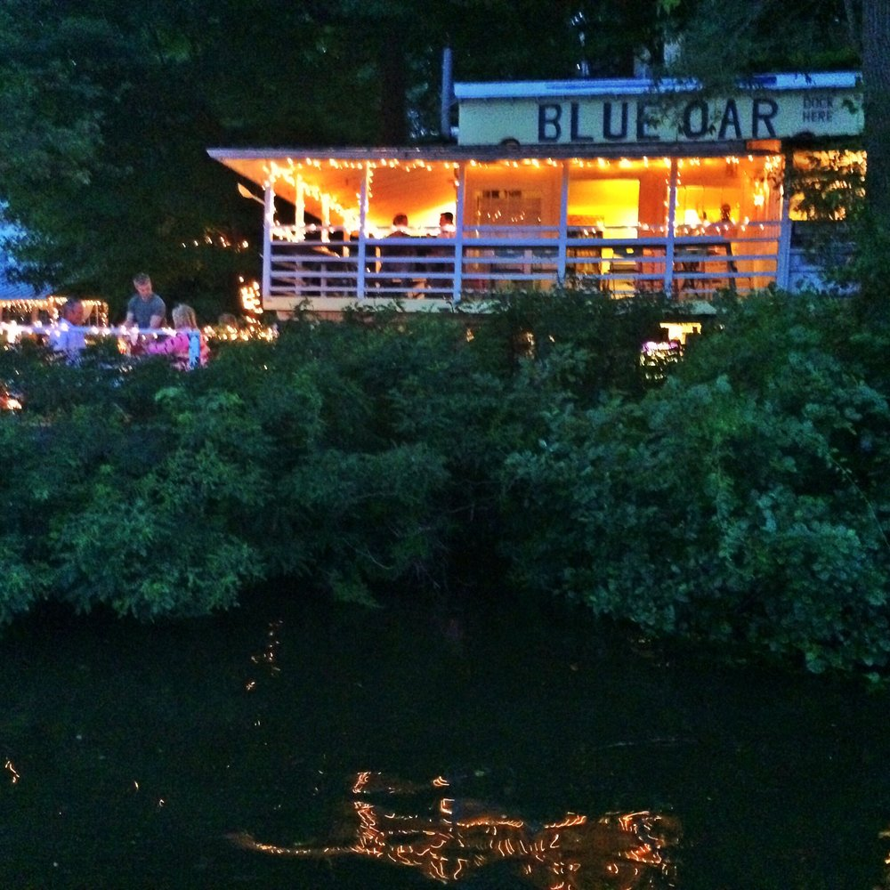The Blue Oar, along the Connecticut River in Haddam, Connecticut, was a favorite find on Yelp.