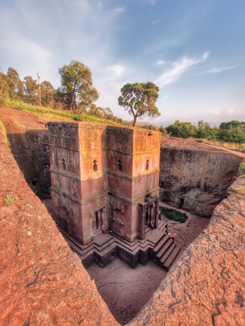 One of 11 rock-hewn churches in Lalibela, Ethiopia, a UNESCO World Heritage Site.