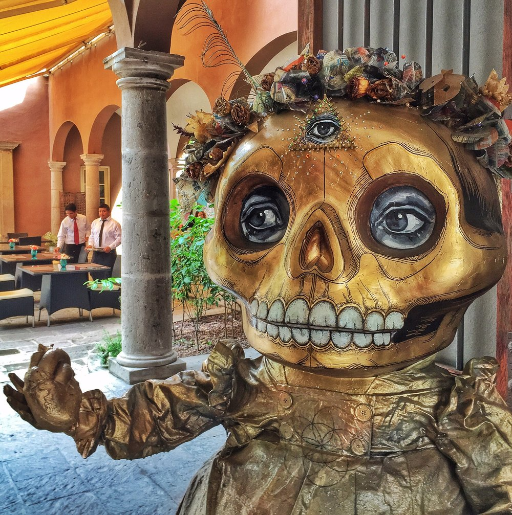 A restaurant in San Miguel de Allende, Mexico gets in the spirit for Nov. 1.