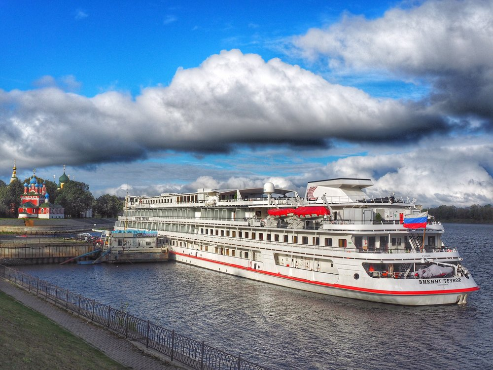 The Viking Truvor, dockside in Russia's Golden Ring town of Uglich