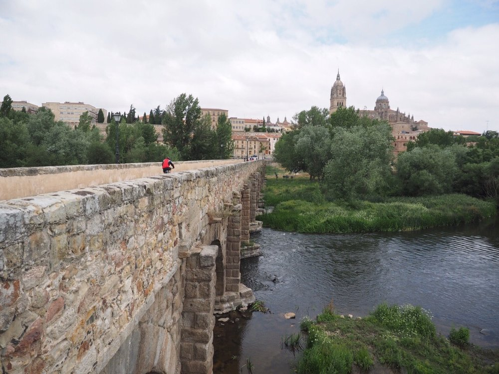 We spent seven weeks studying Spanish in Salamanca, viewed from a Roman bridge dating from the first century