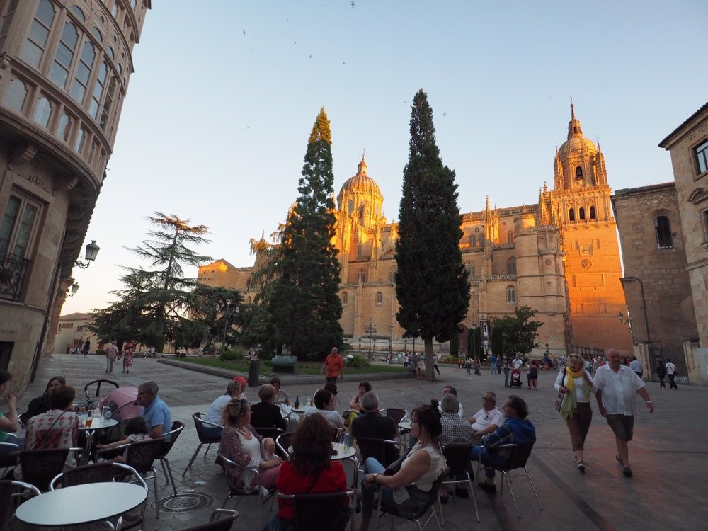 Cafe culture is strong in Salamanca, home to one of the oldest universities in Spain