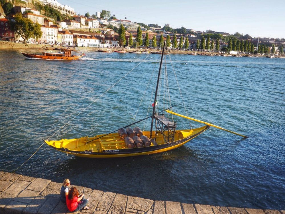 Porto is famous for its port wine, which was transported up the Duoro River on boats like this one