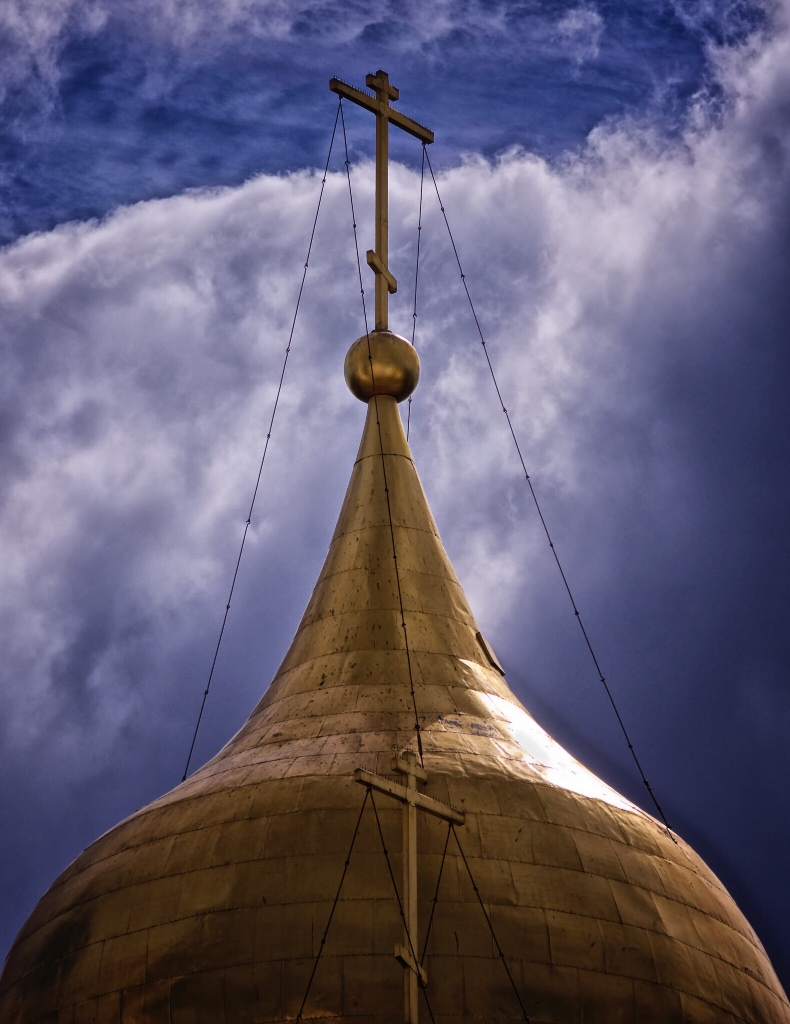 One of Russia's iconic Orthodox church onion domes