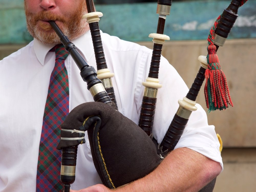 Nothing says Scotland like a red-bearded bagpiper - including this one at Edinburgh's Riding of the Marches