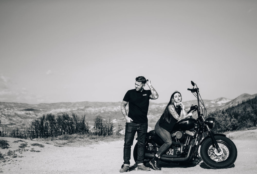 bike couple - SamErica Studios