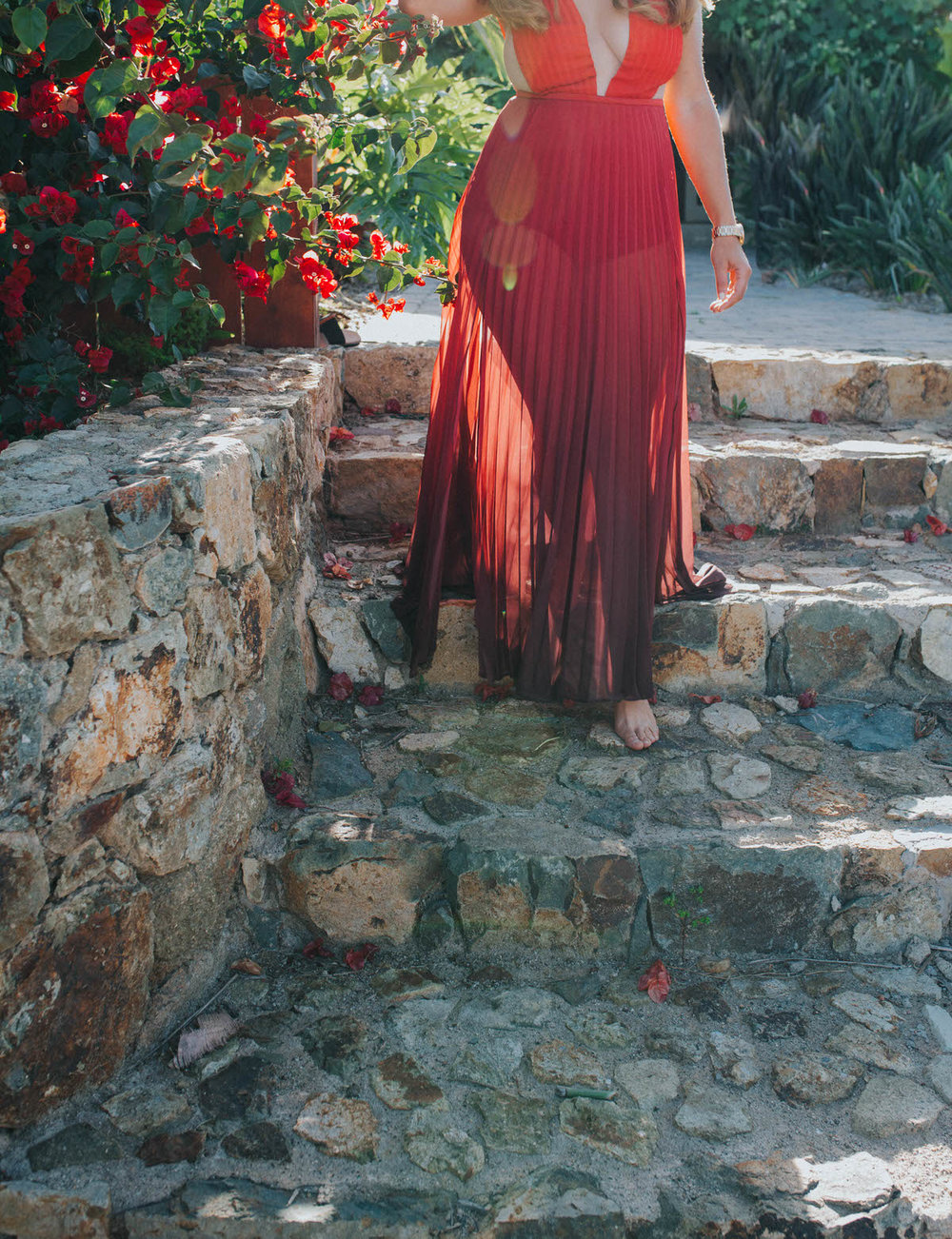 Red Ombre Dress |SamErica Studios