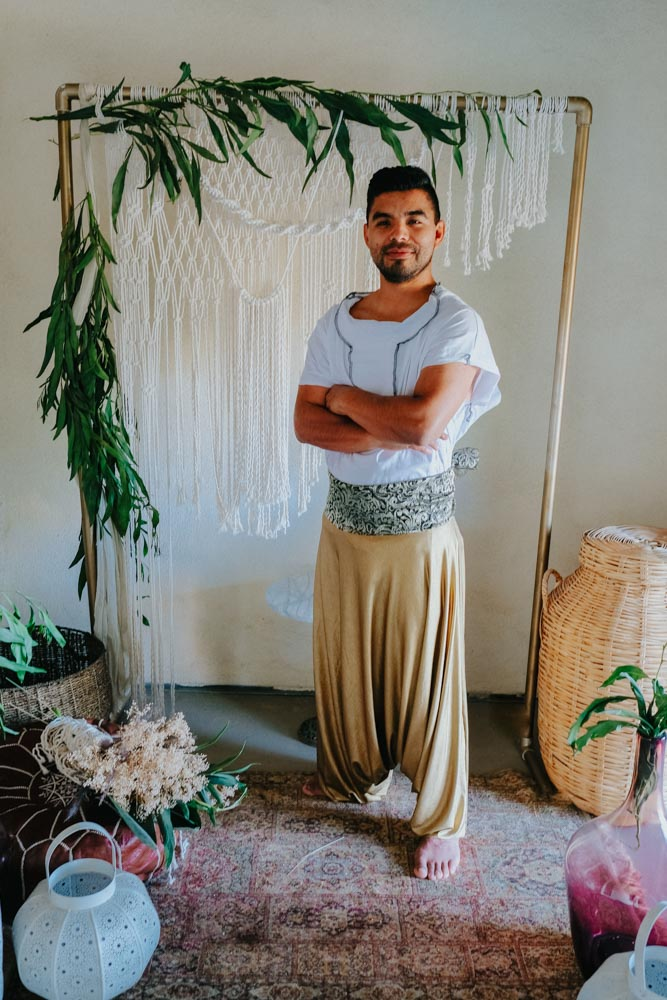 Gold Harem Pants - Aladdin Styled Shoot