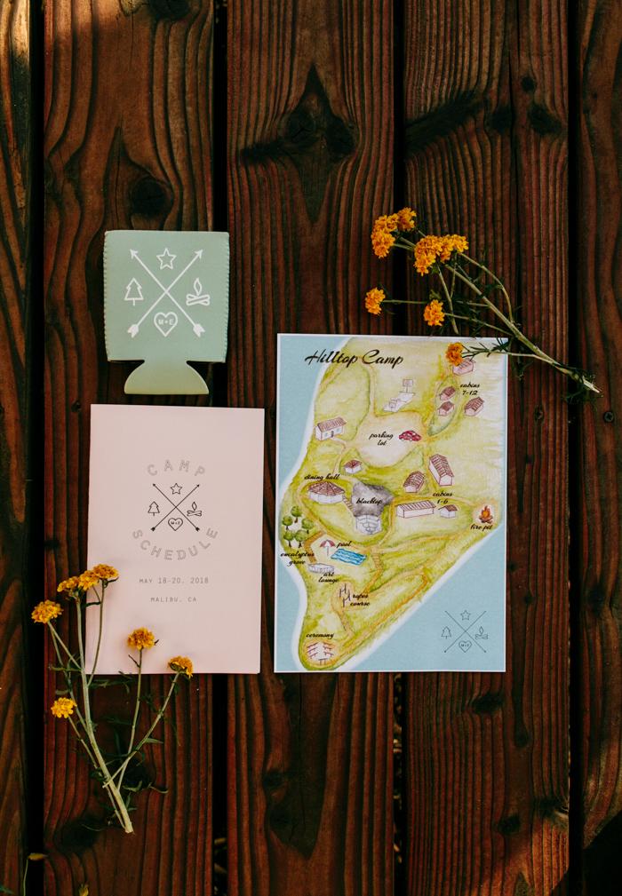 SamErica Studios - rustic colorful invitation flatlay