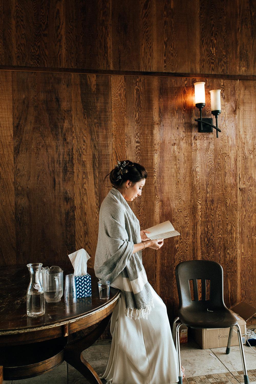 SamErica Studios - bride reading vows