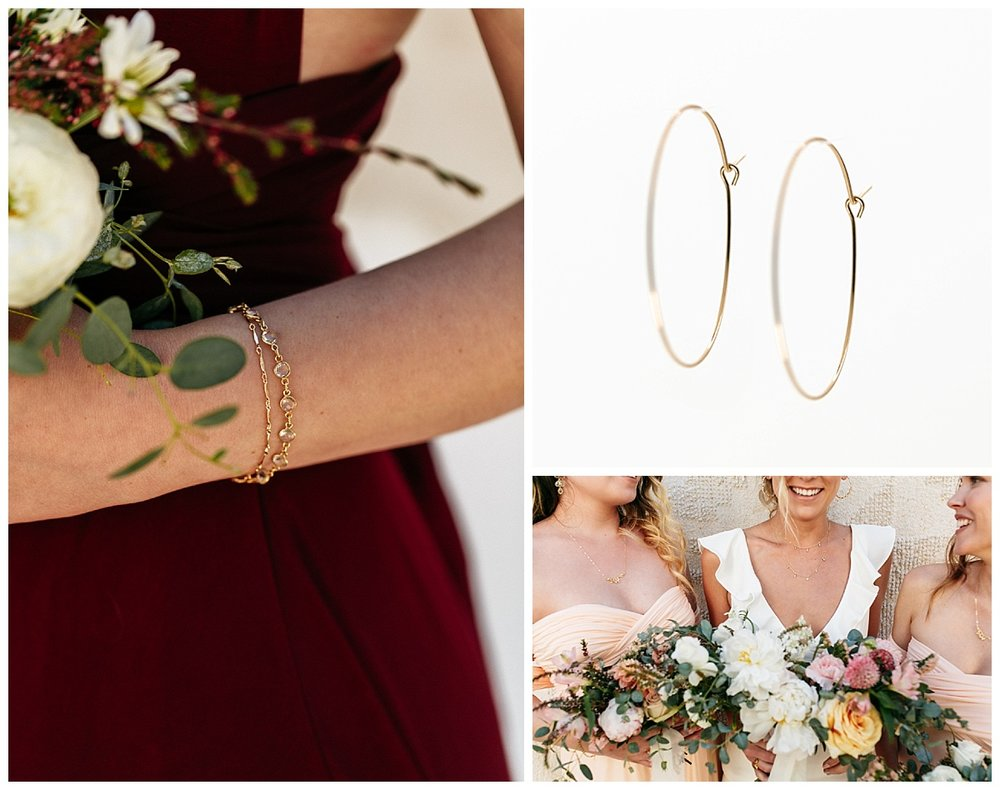 SamErica Studios - maroon burgundy and blush bridesmaid dresses and bridal jewelry