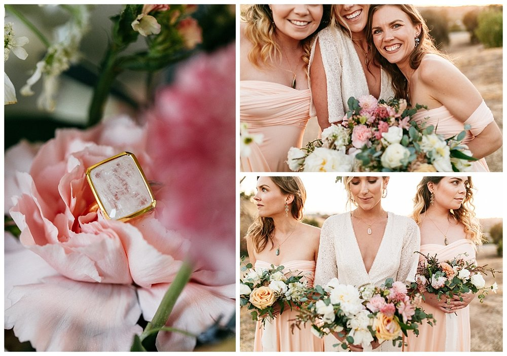 SamErica Studios - blush pink bridesmaid dresses - bridesmaid gifts - bridesmaid jewelry - wedding detail shots