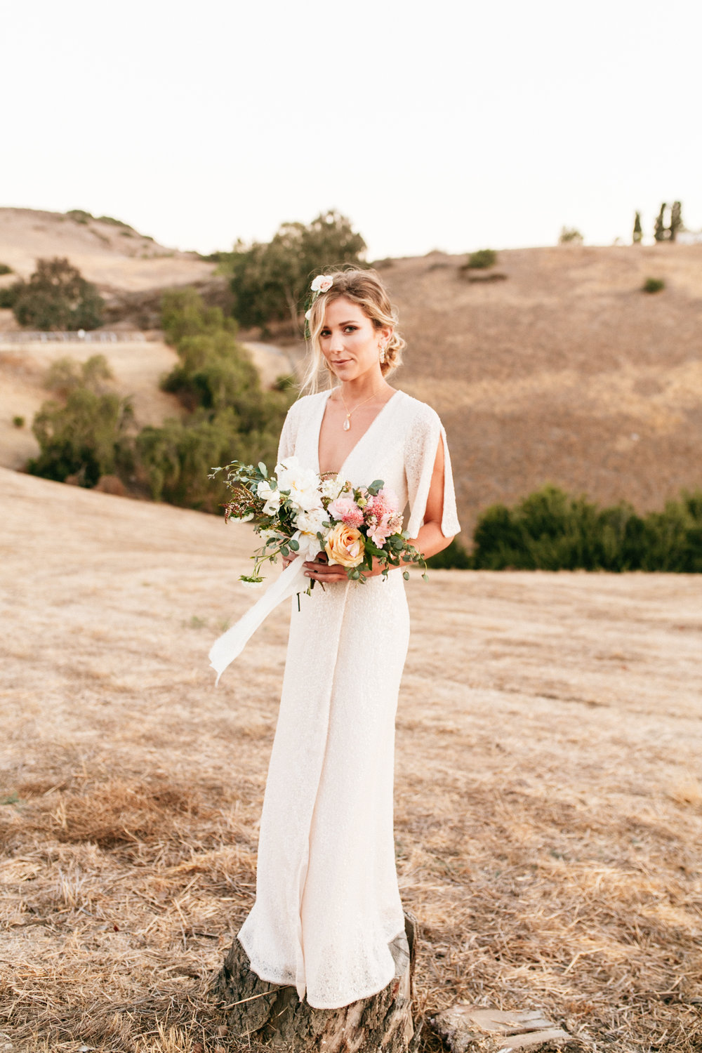 SamErica Studios - modern boho bride portrait - wedding floral crown - san diego wedding photographer
