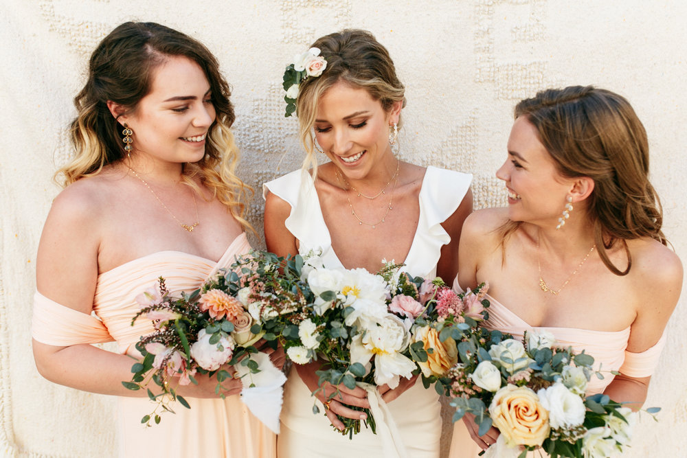 SamErica Studios - blush pink bridesmaids - minimalist wedding jewelry - branding lifestyle photography