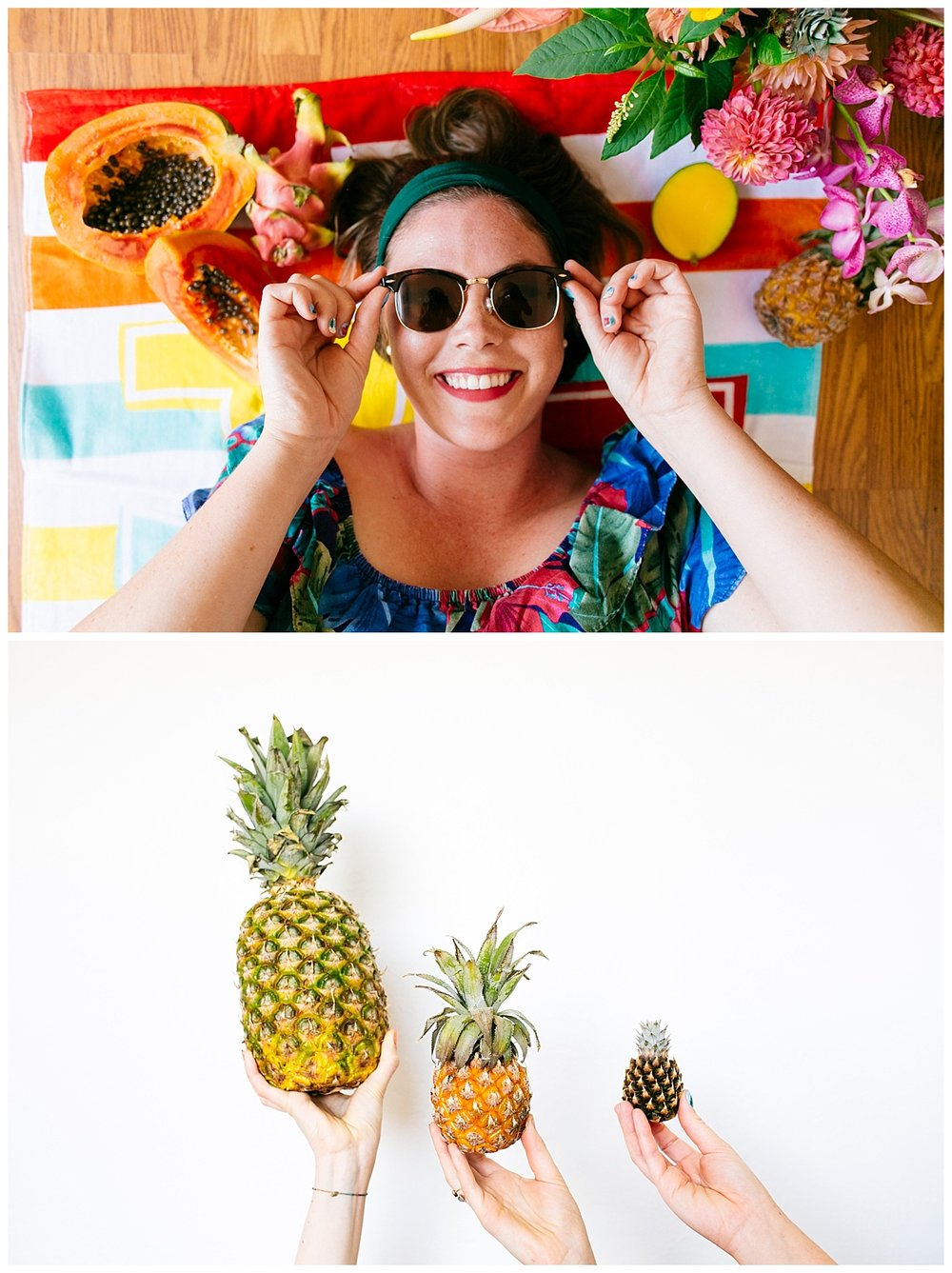 SamErica Studios - San Diego Lifestyle Branding Photographer - Native Poppy Tropical Pool Party - rockabilly makeup