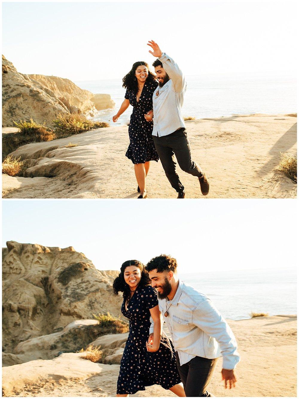 SamErica Studios - San Diego Engagement Photographer - Sunset Cliffs - Fun Couples Poses