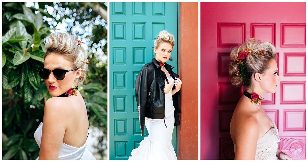 SamErica Studios - Colorfully Modern Rainbow Rock and Roll Wedding Palm Springs