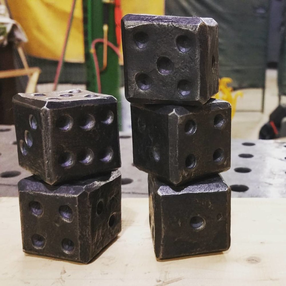 Hand Forged Dice