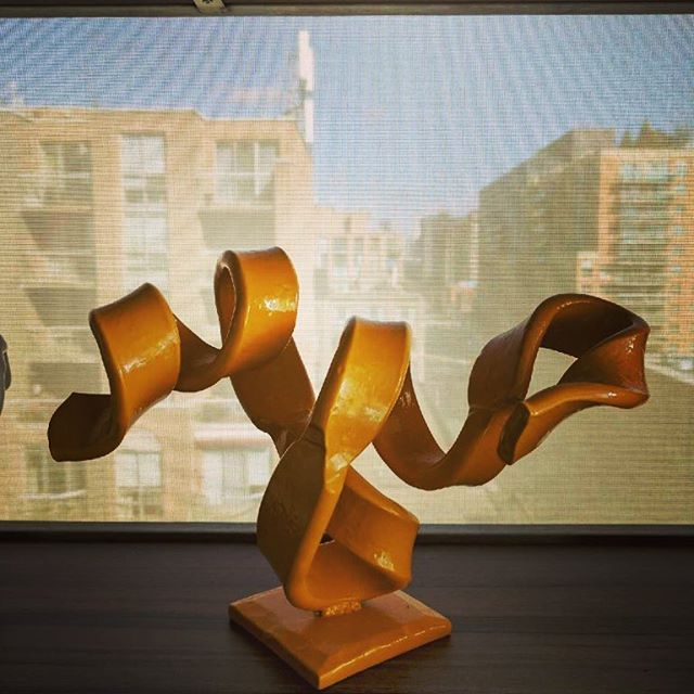 Sometimes you just have to take it home. #sculpture #interiordesugn #blacksmith#handforgediron#abstractart