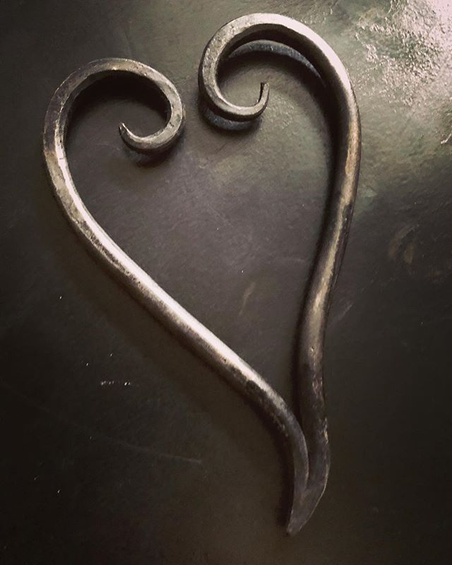 Enjoy the weekend #blacksmith #handforged #heart