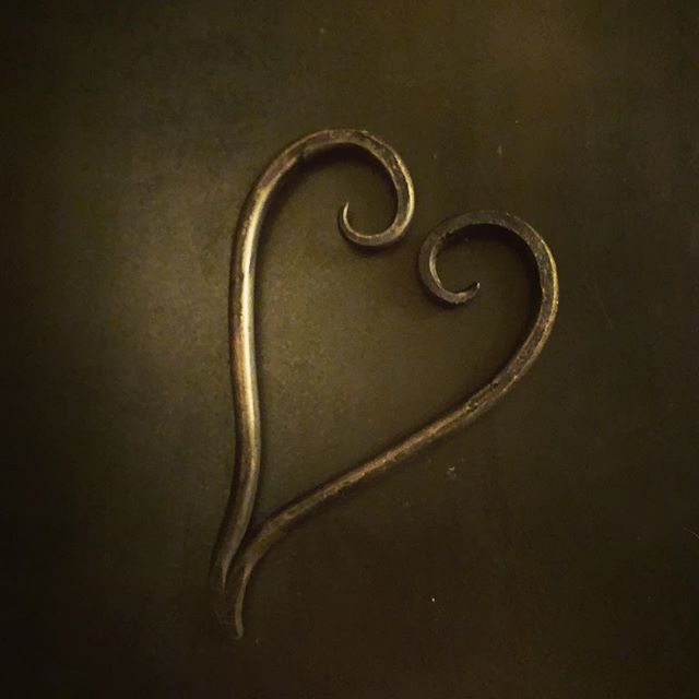 Happy Valentines Day #handforged#blacksmith #artisanblacksmith #hearts