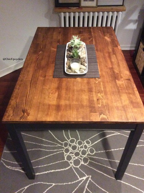 Farmhouse Inspired Dining Table The Chic Upcyclery