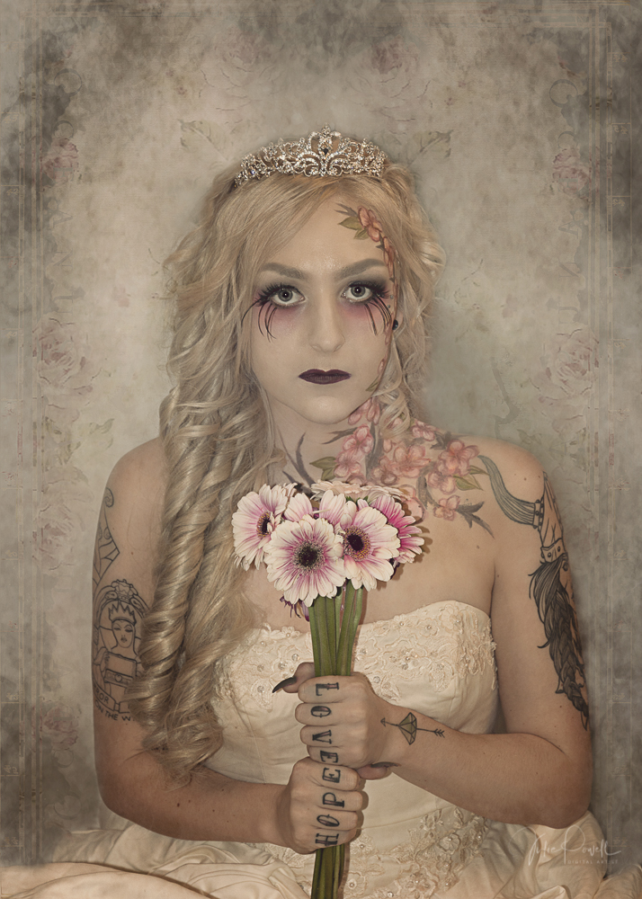 The Secret Garden - Gothic, Boho, Princess, hand painted flowers, dramatic makeup, a ballgown and of course a tiara. Jayde wanted to look like a princess. Behind the scenes and montage of final images.