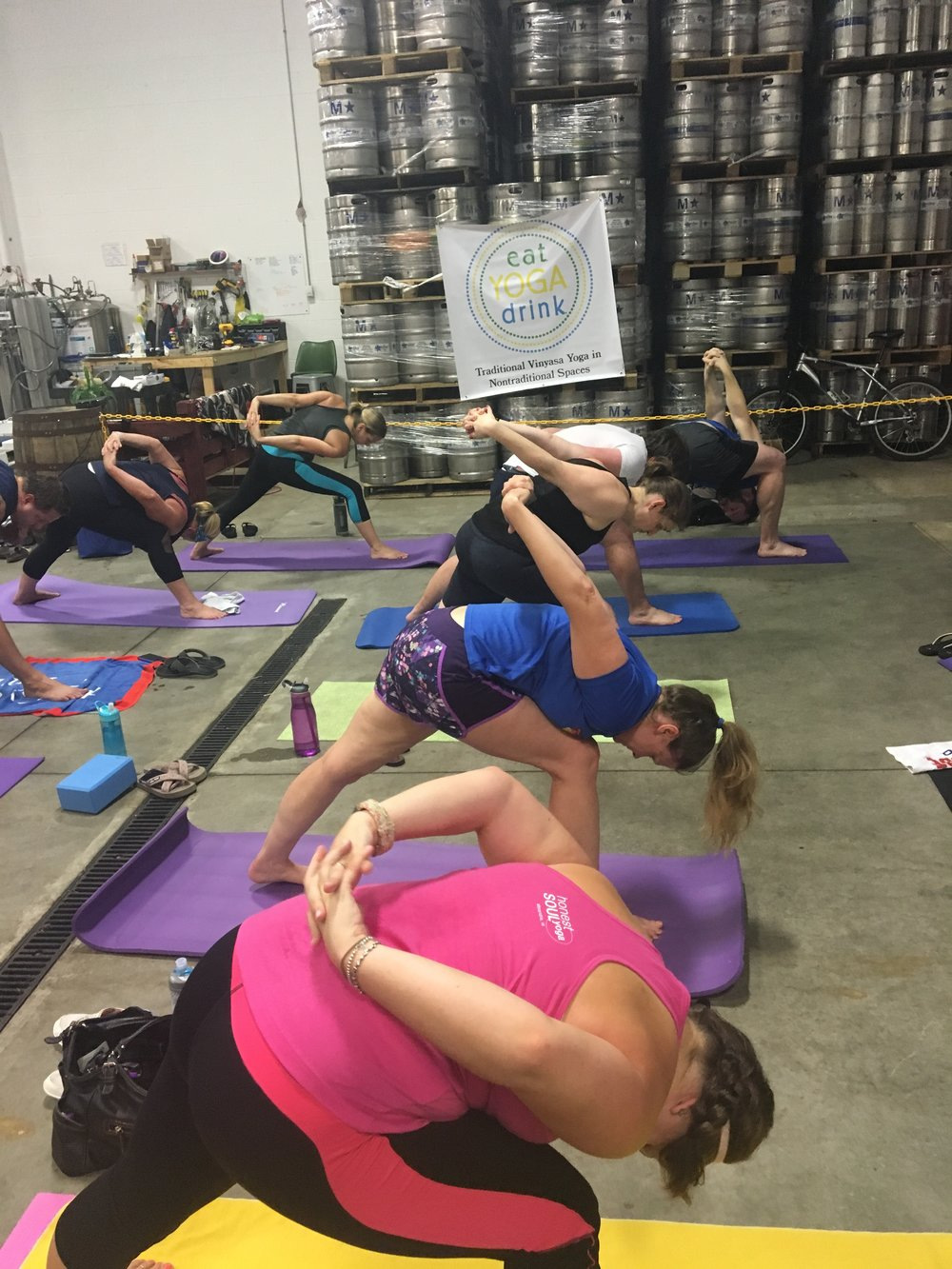 Monthly Yoga & Beer at Fair Winds Brewing Company